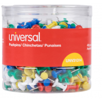 Universal Colored Push Pins 3/8in 400x Assorted