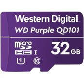 Western Digital SC QD101 Micro SD Card 32GB WD Purple Surveillance Camera WDD032G1P0C