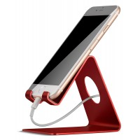 CELL PHONE STAND ALUMINIUM RED