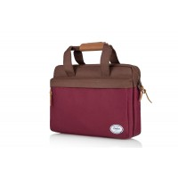 G BROTHERS 15.6 INCH LAPTOP BAG WINDSOR WINE