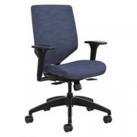 HON SVMU1ACLCO90 Solve Seating Reactiv Mid-back Task Chair - Midnight Seat - Midnight Back