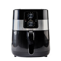 MyHome Electric 4Qt. Hot Air Fryer Large Capacity, 3 Liters of Food, Oil-Less Healthy Cooker, Temp/Timer Settings, Includes Recipes, Black