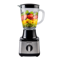 MyHome Glass Blender, Professional Countertop Blender for Kitchen, High Speed Smoothie Blender with 4 Blade System for Shakes, Ice Crushing and Frozen Fruits, 1.5 liters .