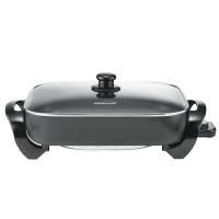 BRENTWOOD 16 INCH ELECTRIC SKILLET WITH GLASS LID