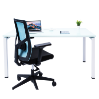 Delphina Desk White By Mesa
