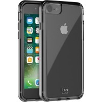 iLuv  iPhone 8/7 METAL FORGE -Protective case with Metallic painted PC frame, Black