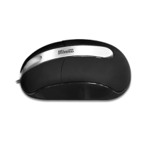 KlipX KMO-102 Optical Mouse - USB/PS2, Black & Silver