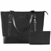 KROSER LAPTOP TOTE BAG BLK 15.6""