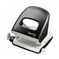 Leitz Metal Office Hole Punch, Black