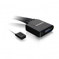 IOGEAR 4-Port USB KVM Switch with Cables and Remote GCS24U