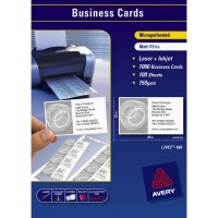 AVERY BUSINESS CARD LASER, 250/PACK - WHITE