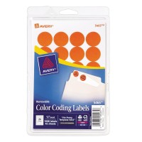 AVERY COLOR CODING LABELS, 3/4In (DIAMETER) - LIGHT BLUE
