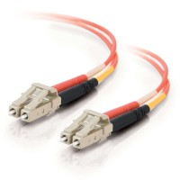 C2G LC-LC 50/125 OM2 Duplex Multimode PVC Fibre Optic Cable (LSZH) - Orange (1M)