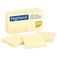 Highland Notes, 3 x 3-Inches, Yellow, 12-Pads/Pack