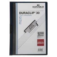 DURABLE DURACLIP A4 FOLDER GREY - 30 SHEETS