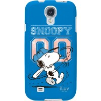 iLuv Snoopy Series Harshell Decorative Case for Samsung Galaxy S4, Blue