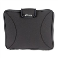"Innovera Neoprene 15.4"" Laptop Sleeve with Handles, Black"