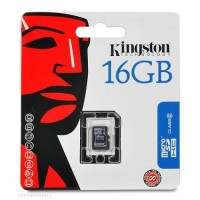 Kingston 16GB microSD HC Class 4 Card with SD adapter
