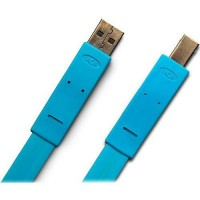 LaCie USB A to B Flat Cable (Blue)