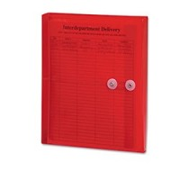 SMEAD Poly String & Button Booklet Envelope -RED