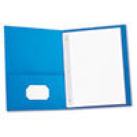 UNIVERSAL Two-Pocket COVER REPORT - LIGHT BLUE, 25/Box