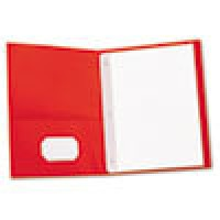 UNIVERSAL Two-Pocket COVER REPORT - RED, 25/Box