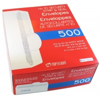 UNIVERSAL #10 V-FLAP ENVELOPE WHITE 25/BOX