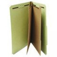 UNIVERSAL PRESSBOARD FOLDER 6 SECTION LETTER GREEN