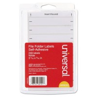 UNIVERSAL LABEL FILE FLOR 248/PACK WHITE
