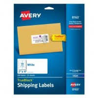 UNIVERSAL INKJET LABEL 2X4 250/PACK WHITE