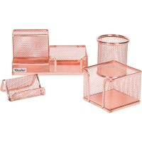 DESK ORGANIZER ROSE GOLD SET