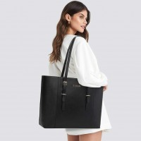 Zysun Laptop Tote, Gorgeous PU Leather Laptop Tote Bag Fits Up to 15.6 IN Classy & Professional Design for Women Wonderful