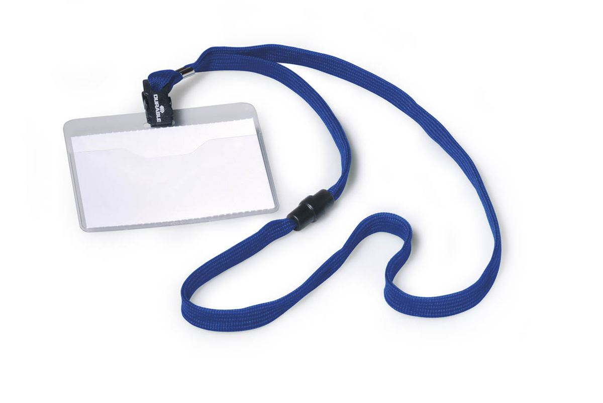 DURABLE BLUE Textile CORD BADGE (10 PIECES)