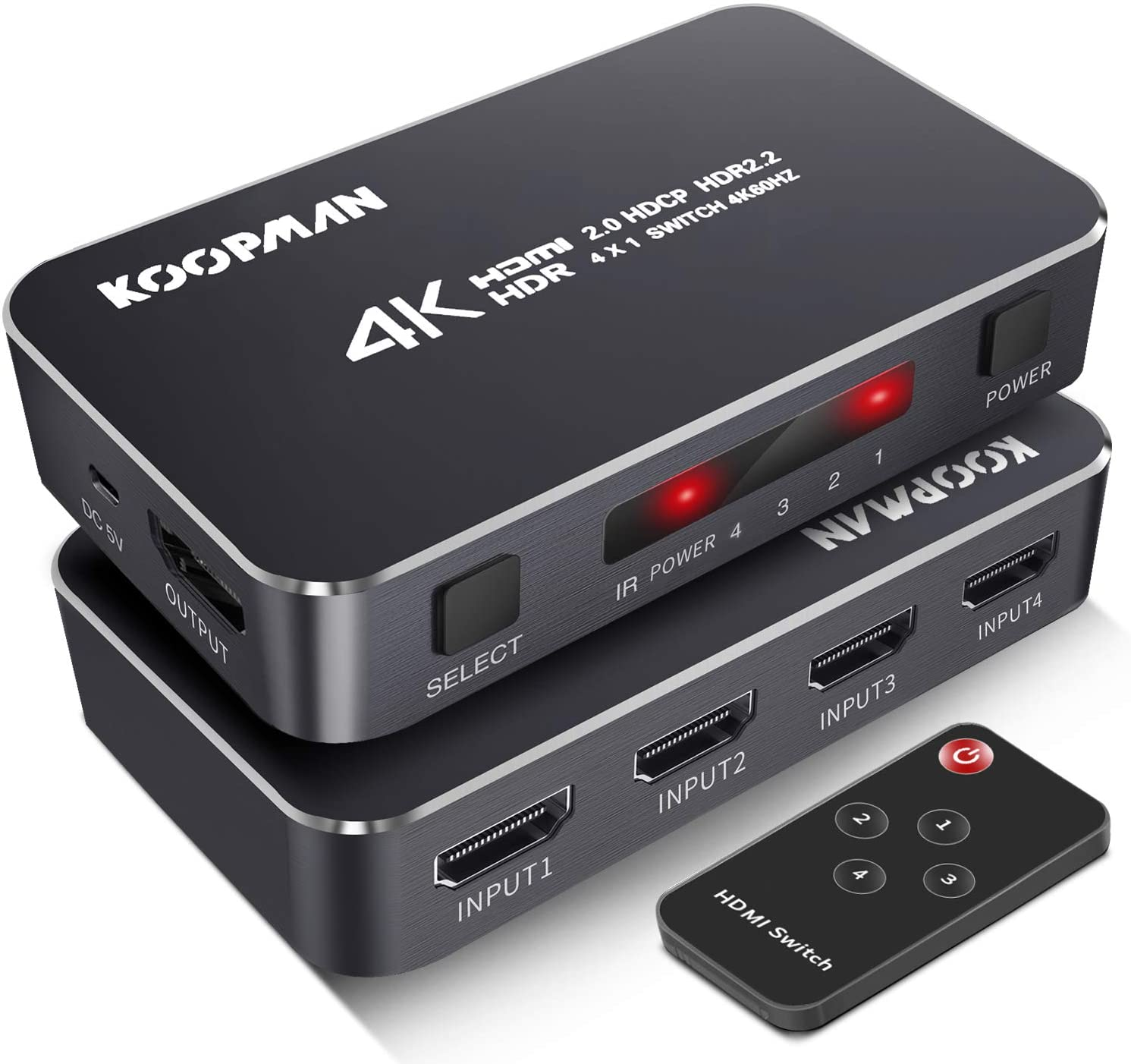 Koopman HDMI Switch 4 Port 4K