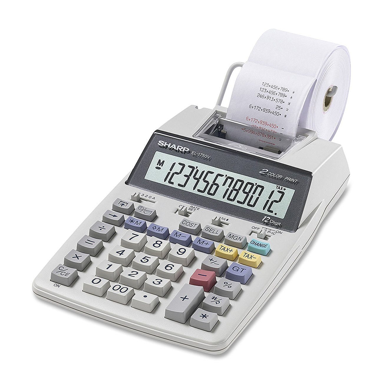 Casio HR8TM Handheld Printing Calculator 12 Character s - LCD AC Supply Power
