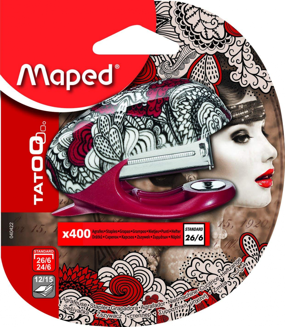 Maped 26/6 Tattoo mini stapler