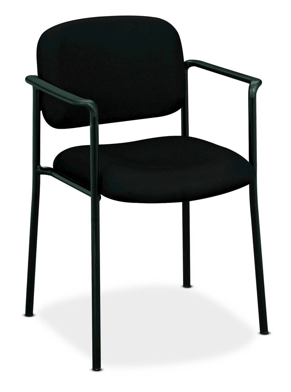 Basyx By HON VL616 Guest Chairs With Arms, Charcoal/Black ...