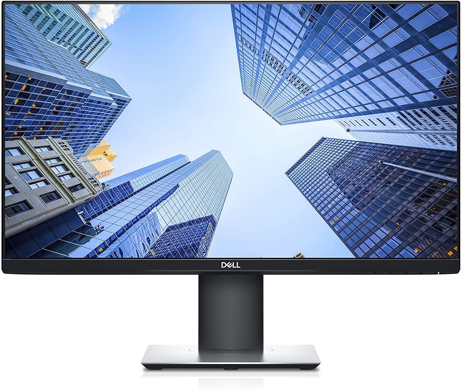 Dell P2419H 24 Inch LED-Backlit, Anti-Glare, 3H Hard Coating IPS Monitor - (8 ms Response, FHD 1920 x 1080 at 60Hz, 1000:1 Contrast, with ComfortView DisplayPort, VGA, HDMI and USB), Black