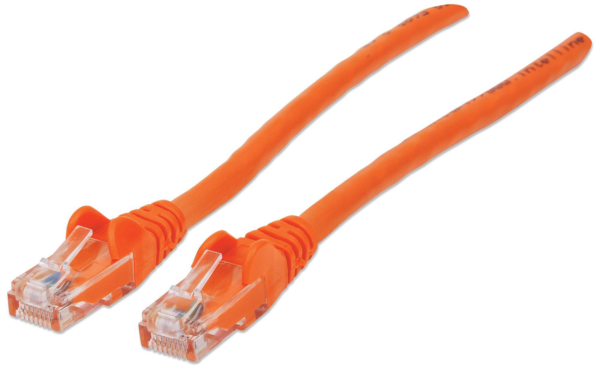 Intellinet 7ft Length CAT5E UTP Ethernet RJ45 Patch Cable Blue