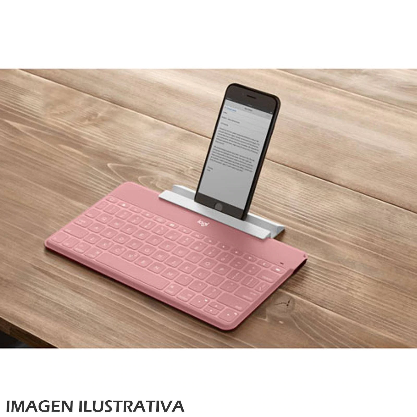 Logitech KEYS-TO-GO Wireless Keyboard (Blush)
