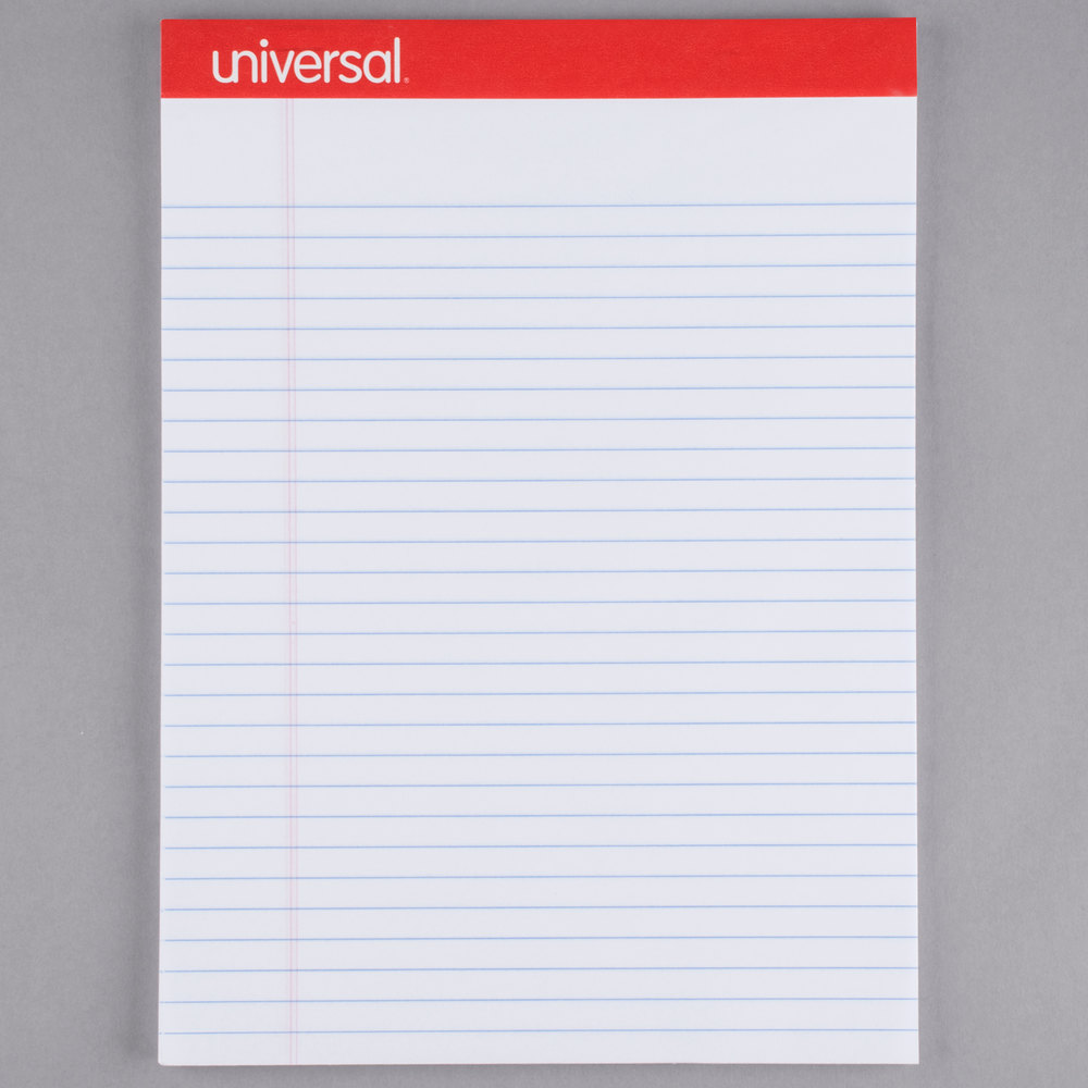 UNIVERSAL PAD LETTER PERFORATED WHITE EACH