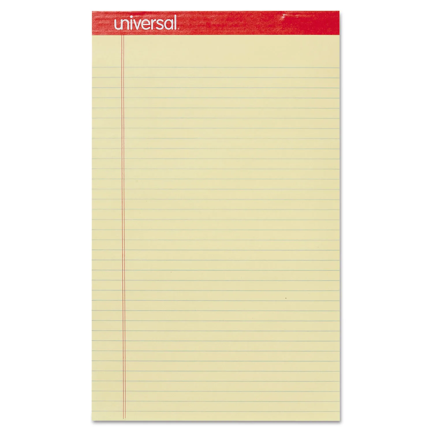 UNIVERSAL PAD LEGAL PERFORATED YELLOW 1X