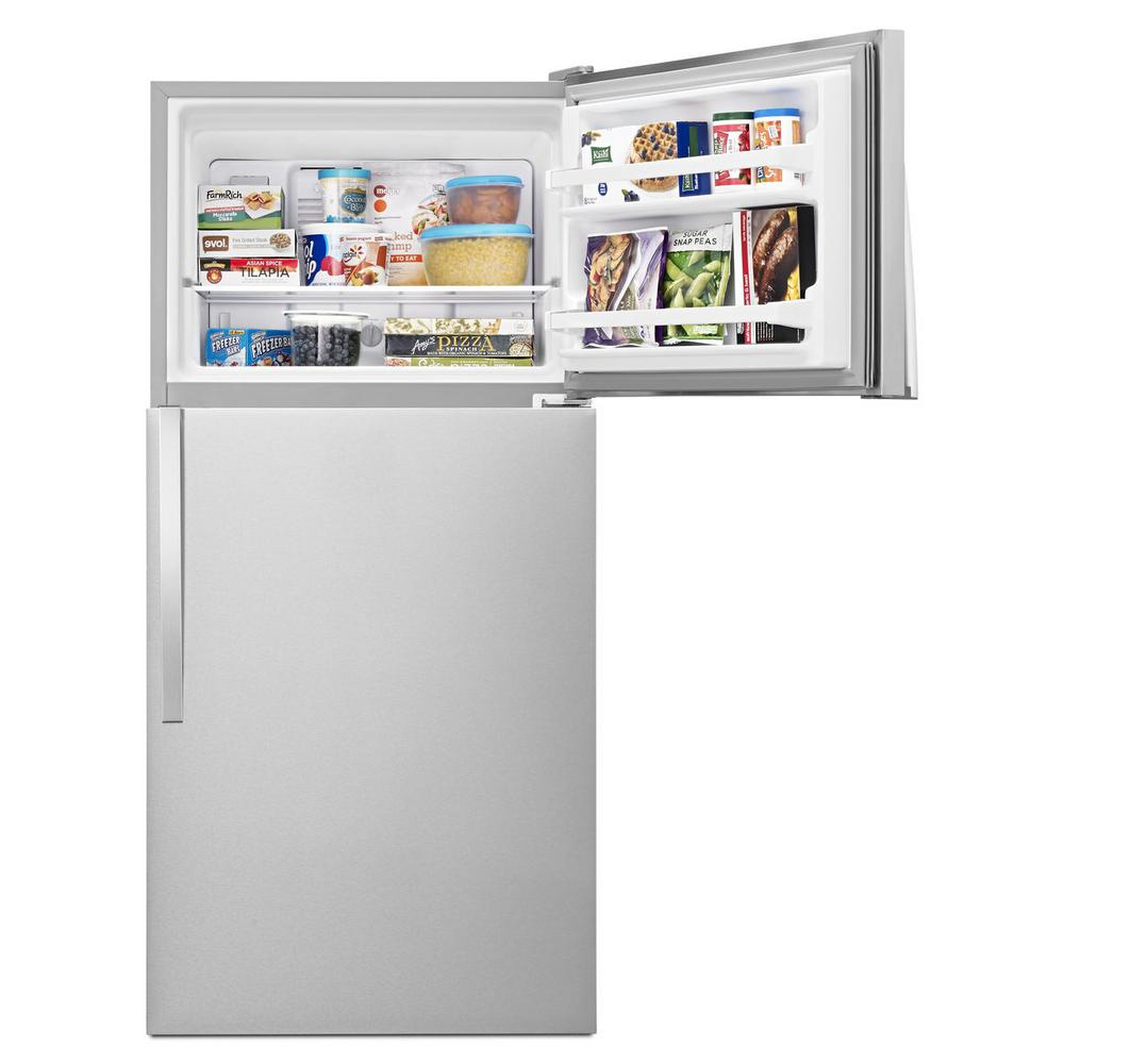Whrilpool 18.2 cu. ft. Top Freezer Refrigerator in Monochromatic Stainless Steel